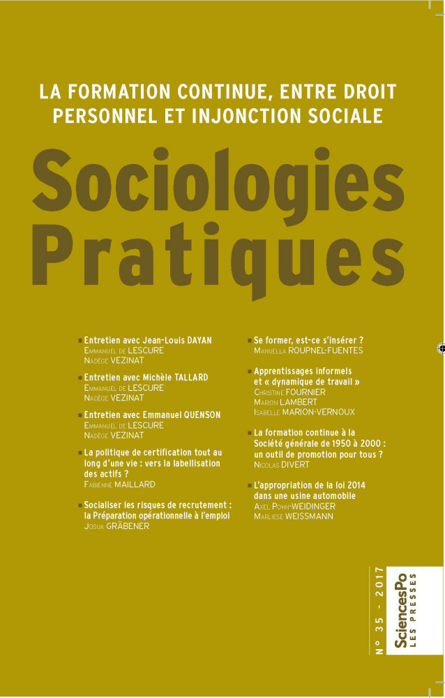 Sociologies Pratiques 35