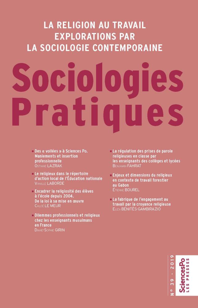 Sociologies Pratiques 39