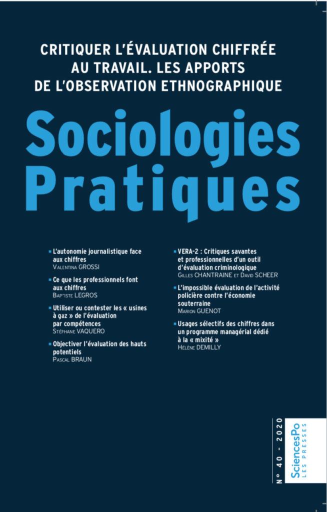 Couverture Sociologies Pratiques numéro 40